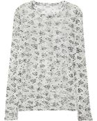 Acne Studios Printed Cottonjersey Top - Lyst