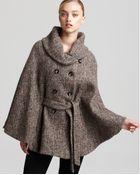 Calvin Klein Tweed Cape - Lyst