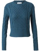 Acne Studios Lia Cable Knit Cotton Jumper - Lyst