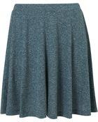 Topshop Green Speckle Skater Skirt - Lyst