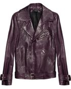 Joseph Milano Leather Biker Jacket - Lyst