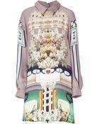 Mary Katrantzou Darjeelingjade Silk Georgette Shirtdress - Lyst