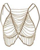Topshop Pearl Mega Bra Body Cover - Lyst