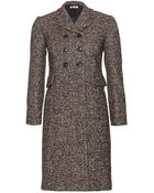 Miu Miu Double-Breasted Tweed Coat - Lyst