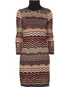 M Missoni Zigzag Crochet-Knit Sweater Dress - Lyst