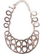 Oscar de la Renta Rose Gold Loop Necklace - Lyst