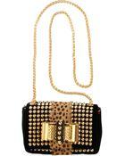 Christian Louboutin Mini Sweet Charity Spikes Bag - Lyst