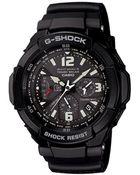 G-Shock  Analog Digital Aviation Black Resin Strap Watch - Lyst