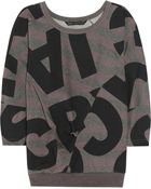 Marc By Marc Jacobs Printed Cotton Jersey Sweatshirt - Lyst