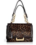 Diane von Furstenberg Leopard Haircalf New Harper Shoulder Bag - Lyst