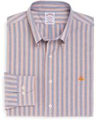Brooks Brothers Non-Iron Regular Fit Double Stripe Oxford Sport Shirt - Lyst
