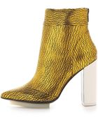 3.1 Phillip Lim Peggy Metallic Ankle Booties - Lyst