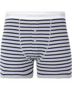Calvin Klein Striped Stretch-cotton Boxer Briefs - Lyst