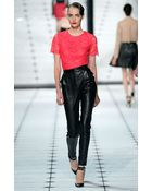 Jason Wu Leather Stovepipe Pants - Lyst