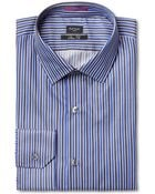Paul Smith Slim Fit Striped Cotton Shirt - Lyst