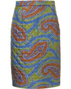 Topshop Quilted Paisley Silk Skirt By Jw Anderson For Topshop - Lyst