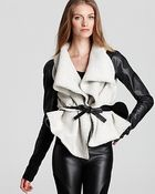 Sachin & Babi Jacket Lucerne Leather with Wool Blend Collar - Lyst