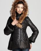 Mackage Peaches Shiny Puffer Coat with Bell Sleeves - Lyst