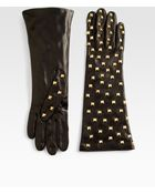 Portolano Nappa Studded Leather Gloves - Lyst