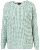 Topshop Knitted Nep Textured Jumper - Lyst