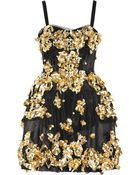 Dolce & Gabbana Embellished Mesh Dress - Lyst