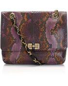 Lanvin Happy Mm Python Shoulder Bag - Lyst