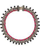 Topshop Neon Thread Rhinestone Collar - Lyst