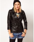 ASOS Collection Asos Hishine Pu Biker Jacket - Lyst