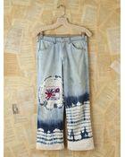 Free People Vintage Acid Wash Jeans with Tie Dye - Lyst