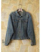 Free People Vintage Light Blue Denim Jacket - Lyst