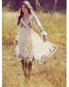 Free People Fp New Romantics Splendor in The Grass Embroidered Dress - Lyst