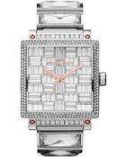 Michael Kors Midsize Silver Color Stainless Steel Uptown Threehand Glitz Watch - Lyst