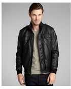 Calvin Klein  Faux Leather Bomber Jacket - Lyst