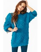 Nasty Gal Fuzzy Bubble Knit - Lyst