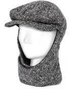 L For Lazarus Livvy Echapeau Tweed Grey Hat & Scarf Combinatio - Lyst