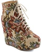 ModCloth True To Platform Bootie in Tapestry - Lyst