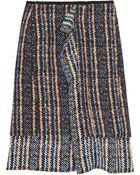 Marni Bouclé Woolblend and Silk Skirt - Lyst