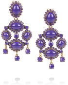 Oscar de la Renta 24karat Gold Plated Cabochon Clip Earrings - Lyst