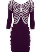 Faster Mark Fast Classic Cutout Stretch-Jersey Mini Dress - Lyst
