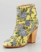 Rag & Bone Classic Newbury Floral Bootie - Lyst