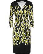Diane von Furstenberg Julian Geometricprint Silkjersey Wrap Dress - Lyst