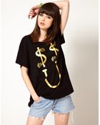 Lazy Oaf Exclusive Dollar Smile Oversized Tshirt - Lyst