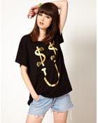 Lazy Oaf Exclusive Dollar Smile Oversized Tshirt - Lyst