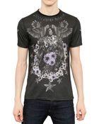 Philipp Plein Star Stud Parrot Cotton Jersey T-Shirt - Lyst