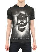 Philipp Plein Swarovski Skull Cotton Jersey Tshirt - Lyst