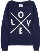 Zoe Karssen Love Printed Jersey Sweatshirt - Lyst