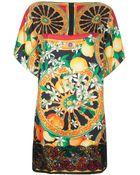 Dolce & Gabbana Sicilian Print Shift Dress - Lyst
