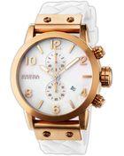 Brera Isabella Round Chronograph Silicone Strap Watch - Lyst