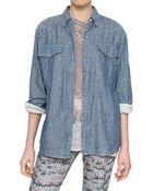 Etoile Isabel Marant Cotton Denim Shirt - Lyst