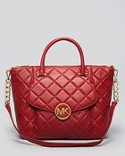 Michael Kors Michael Satchel Fulton Quilted Leather - Lyst